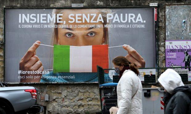 Напряжение разрастается в беднейших регионах юга - Кампаниа, Калабриа, Сицилия и Пуглия. У людей кончаются деньги и еда. Поступают сообщения, что владельцев маленьких магазинов заставляют отдавать еду бесплатно, а полиция патрулирует супермаркеты, чтобы предотвратить кражи. Самозанятые и работники, чьи контракты не подразумевают социальных гарантий, остались без доходов, а многие малые предприятия могут не возобновить работу.