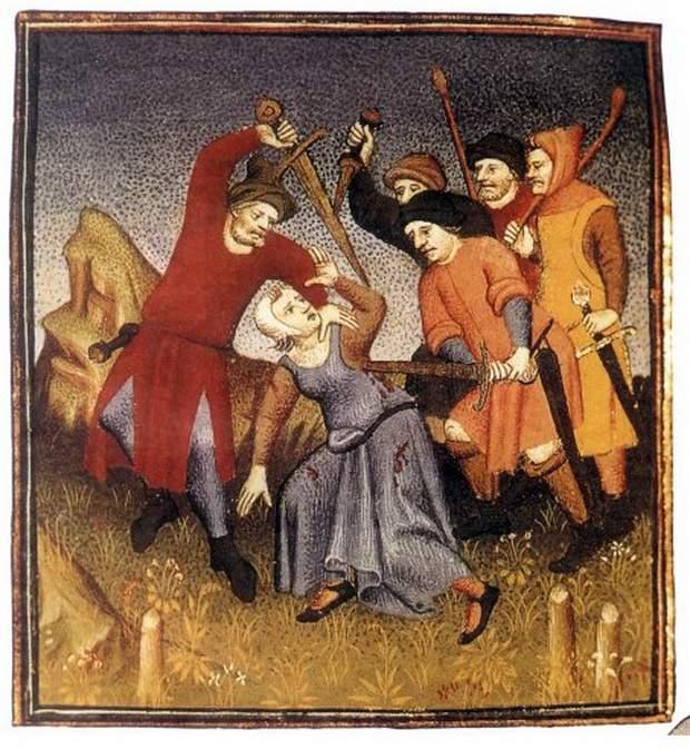 Наказание провинившейся женщины