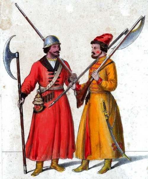 Стрельцы с бердышами. Источник: ru.wikipedia.org