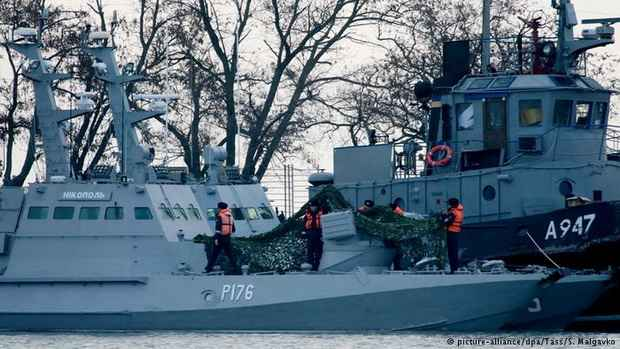 ЕС настаивает на освобождении захваченных Россией украинских судов и экипажей