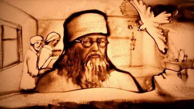 Песочная анимация о святителе Луке от художницы Ксении Симоновой