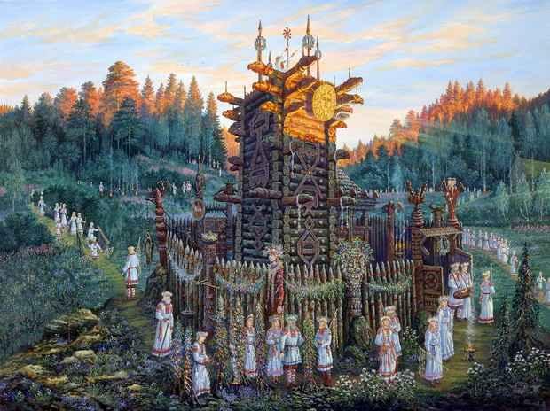 Издревле на Руси были распространены языческие верования, превыше всего ставившие взаимоотношения человека и природы.