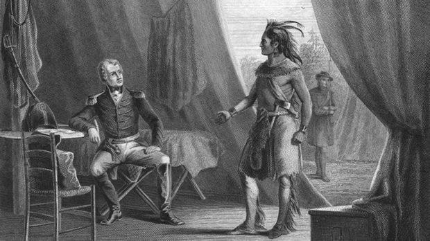205 лет назад подписанием мирного договора в форте Джексон завершилась Крикская война между США и группой индейцев племени крик, известной как Красные Палки.