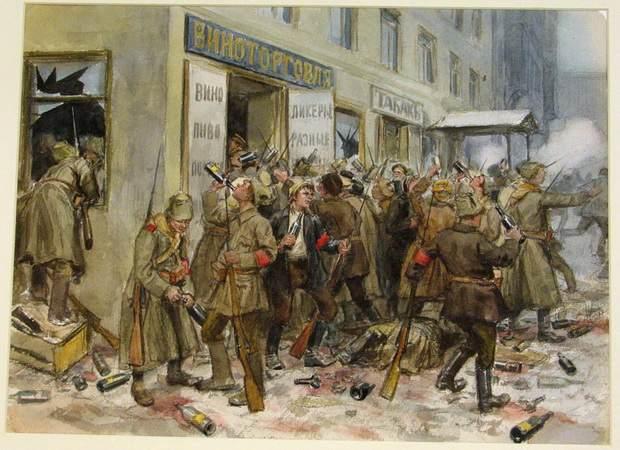 Солдаты, тонувшие в цистернах со спиртом, митинги, семечки, красные банты, растерзанный вид