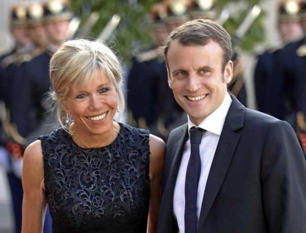 Charlie Hebdo создала карикатуру Макрона и его беременной 64-летней супруги