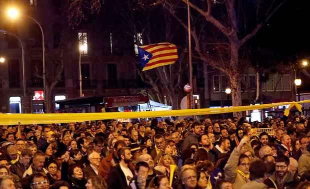 В Барселоне прошли протесты против визита короля Испании Фелипе VI