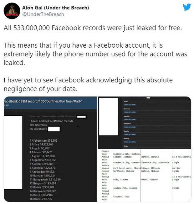 Элон Гэл, технический директор компании по кибербезопасности Hudson Rock, впервые обнаружил весь объем утечек данных в интернете в субботу.