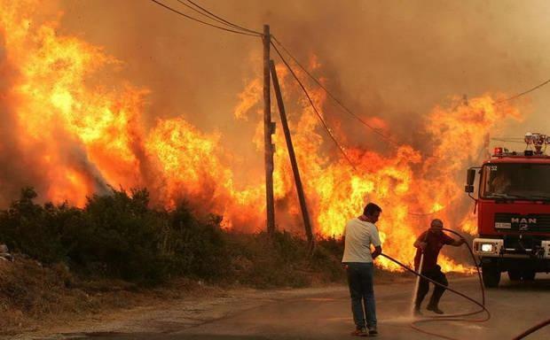 На Кипре бушует лесной пожар. Его называют самым страшным в истории страны