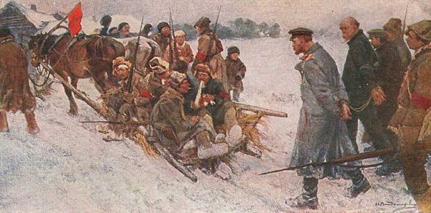 Через месяц большевики заняли Киев, тогда не было чрезвычайки, а расстреливали на улицах
