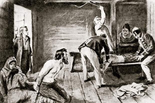 Доведённые до отчаяния крепостные рубили, резали и забивали насмерть своих угнетателей.