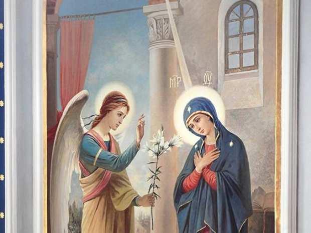 Церковь празднует Благовещение Пресвятой Богородицы