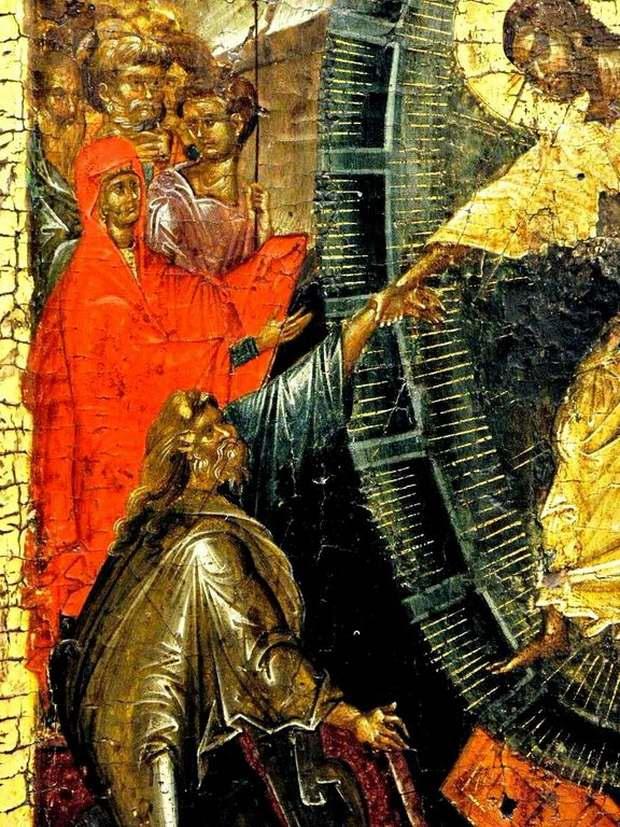 Спаситель вызволяет из ада Праотца Адама-2