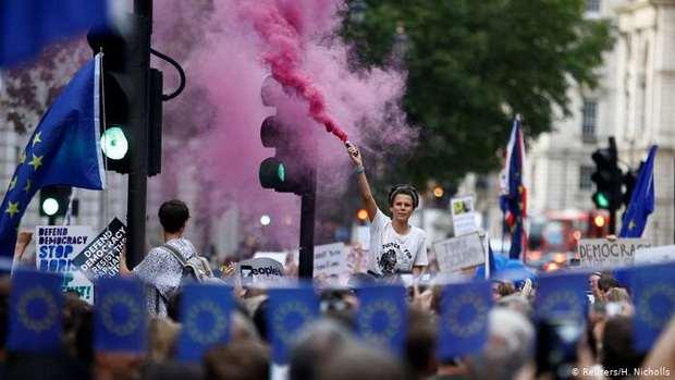 Миллион британцев выступил против приостановки работы парламента