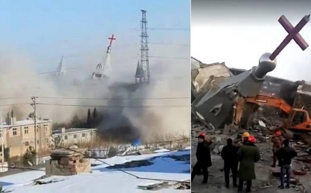 Христиане скорбят по крупнейшей ~нелегальной~ церкви, разрушенной китайскими властями