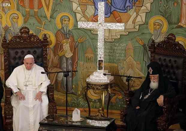 Патриарх Грузинский Илия II, назвал Папу Римского ~любимым братом~