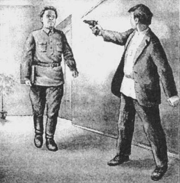 Задержанным оказался Леонид Николаев, бывший инспектор управления Наркомата рабоче-крестьянской инспекции Ленинградской области.