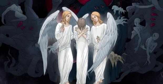 На мытарствах душа в присутствии ангелов и демонов, но и пред оком всевидящего Судии-Бога, постепенно и подробно испытывается во всех делах, словах и помышлениях.