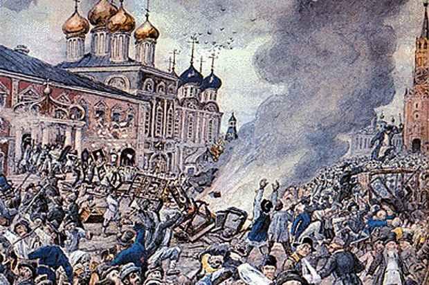 разгорелся бунт, в котором участвовало несколько тысяч человек с камнями, дубинами, топорами и кольями