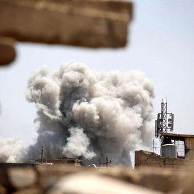 """По данным Agence France-Presse, в """"зеленой зоне"""" упали пять ракет. Там находятся правительственные учреждения и посольства, в том числе и США."""