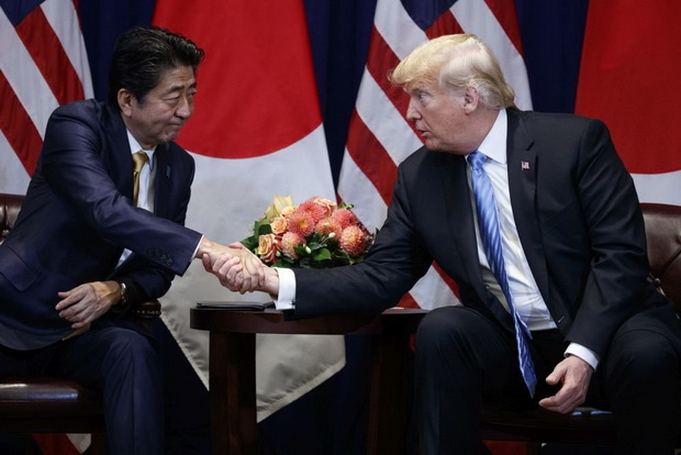 В 2019 году Трампа выдвигал Абэ