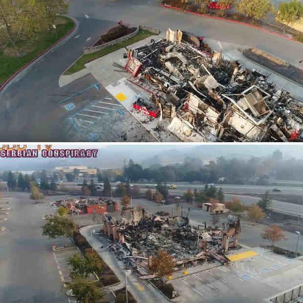 Уникальные и страшные пожары в Калифорнии (видео,фото)