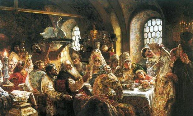Свадебный пир в боярской семье