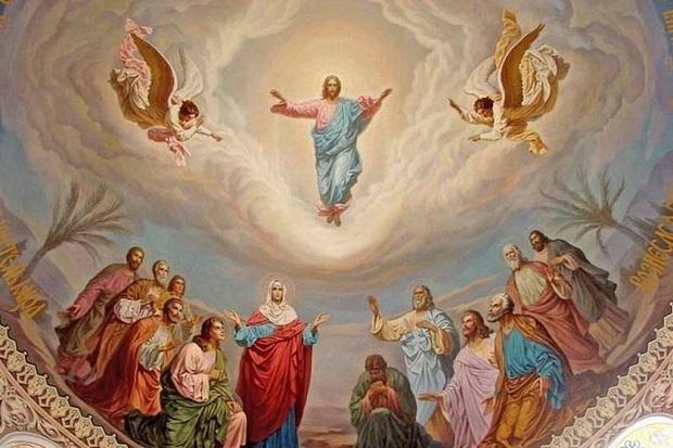 Своим вознесением Он, прежде всего, соединяет землю с небесными сферами