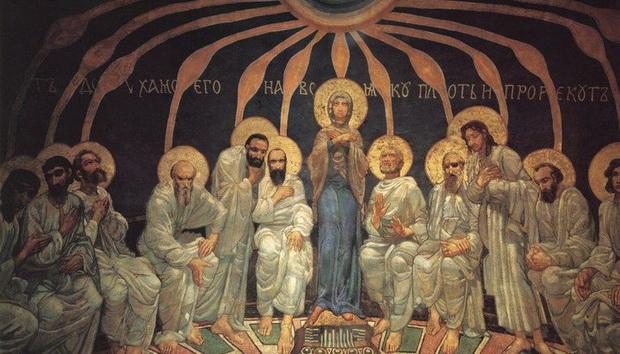 Но не на одних только апостолов, и не ради только их, сошел Дух Святой, а через них — на всех нас и ради всех нас.