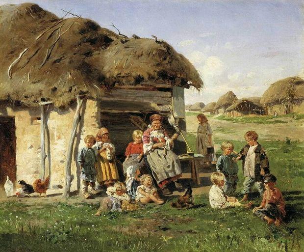 большинство крестьян жили в условиях столь милого сердцу утопистов коллективизма