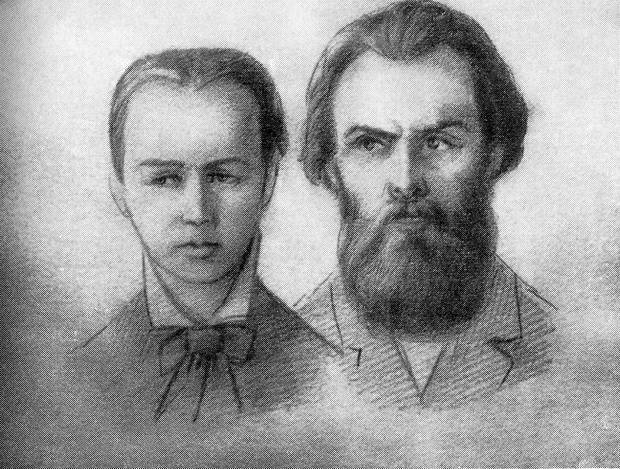 С. Перовская и А. Желябов на суде