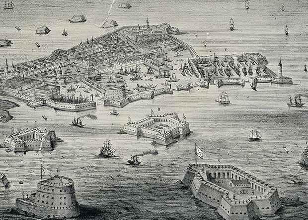 Кронштадт был не только крепостью, прикрывавшей вход в Неву, но и местом, куда высылали из столицы бродяг и социальных маргиналов