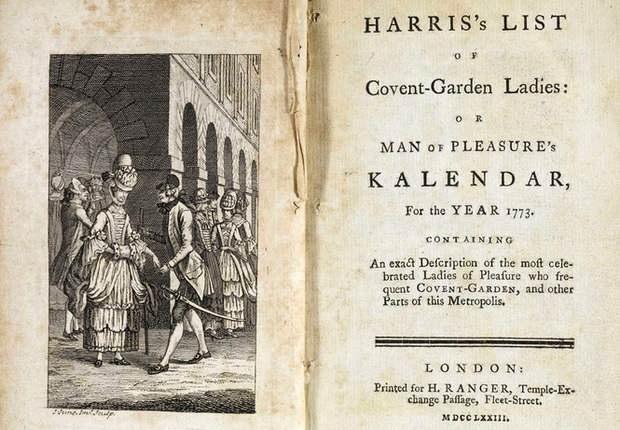 Именно Деррик около тридцати лет издавал «Харрисовский список ковент-гарденских леди», а попросту говоря, ежегодный альманах проституток