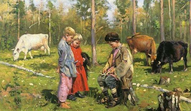 Очень часто лет с 10-12 детей отправляли подрабатывать.
