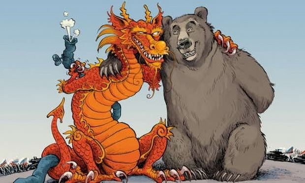 В 1950-х годах существовал договорный союз между предшественником России и Китаем.