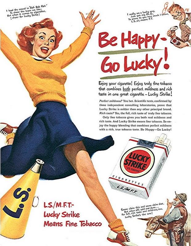Когда началась Вторая мировая война, Lucky Strike пережил ребрендинг.