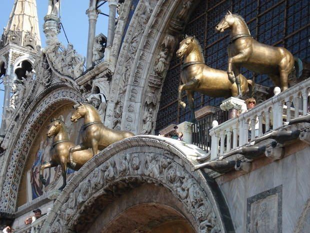 Венеция. Кони Святого Марка — часть венецианской добычи 1204 года