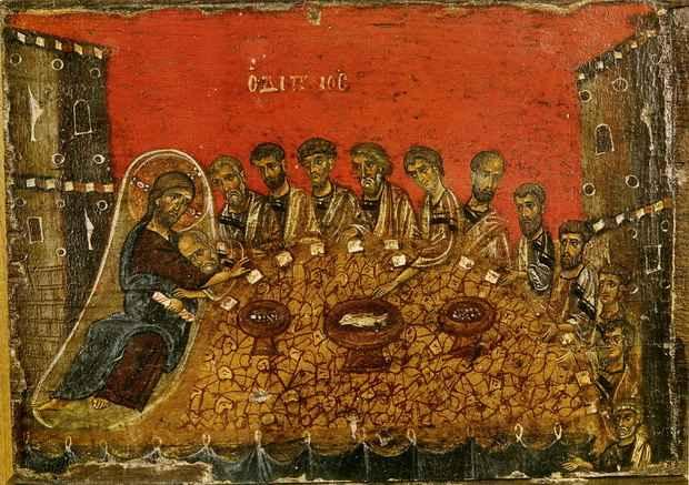 Тайная Вечеря - последний ужин Христа с апостолами перед предательством Иуды.