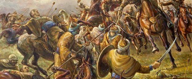Ранним утром 10 октября Карл Мартелл смотрел, как внизу у подножья холма пришла в движение армия арабов.