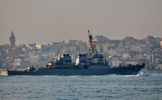 Боевой корабль 6-го флота США USS Carney вошел в Черное море
