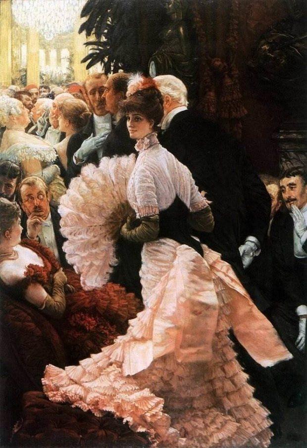 Общество допускало, чтобы за мужнюю женщину, посещавшую свет или публичные места, сопровождал посторонний мужчина