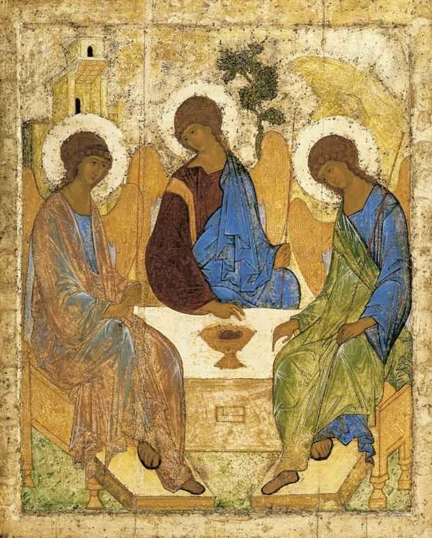 Андрей Рублев. Икона Святой Троицы. 1411
