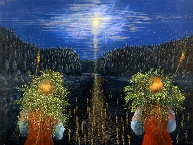 По легенде, Егорий вешний обладает волшебными ключами, которыми отмыкает весеннюю землю.