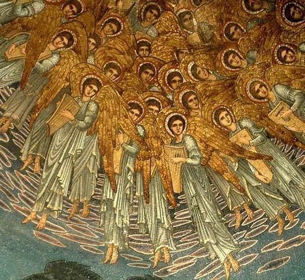 На время происхождения ангельского мира есть и другой, более редкий взгляд.