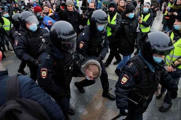 ОВД-Инфо: Протесты 23 января поставили рекорд по задержаниям