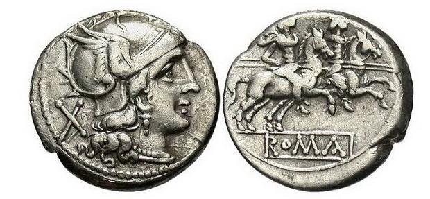 Серебряный денарий, после 211 г. до н. э