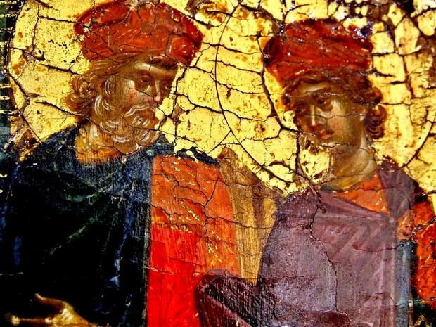 Святые Пророки Цари Давид и Соломон, вызволенные Спасителем из ада
