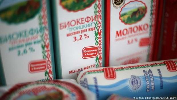 Россия запретила ввоз молочной продукции из Беларуси