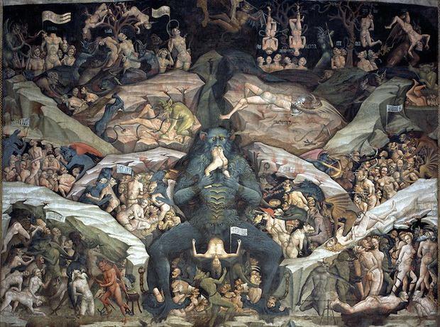 Фреска Джованни да Модена в базилике Сан-Петронио