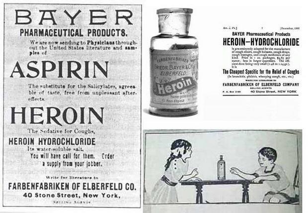 В этом году исполняется 120 лет одной из самых страшных страниц в истории фармацевтики. В 1898 году немецкая компания Bayer представила новый препарат для лечения морфиновой зависимости, туберкулёза, пневмонии и обыкновенного кашля.
