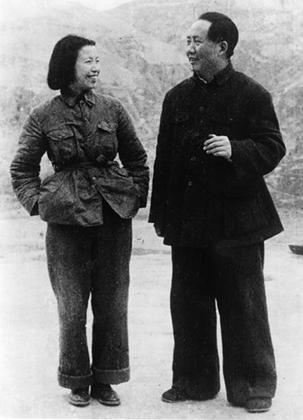Мао Цзэдун с последней женой Цзян Цин